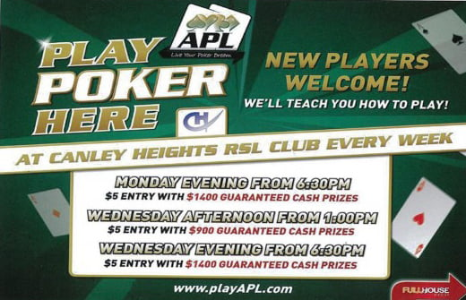 Today's Poker Events