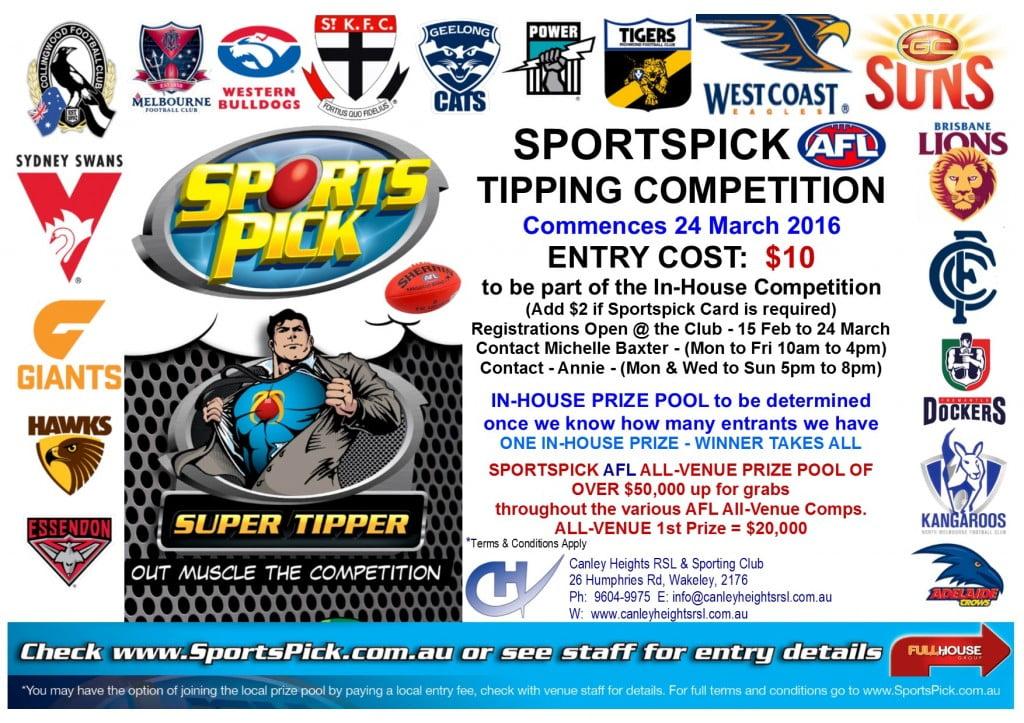 Sportspick AFL Competition Flyer 2016